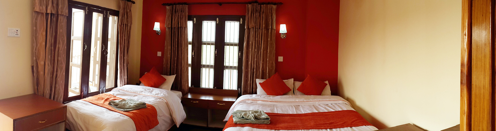 Double Bed Bedroom Chitwan Nepal